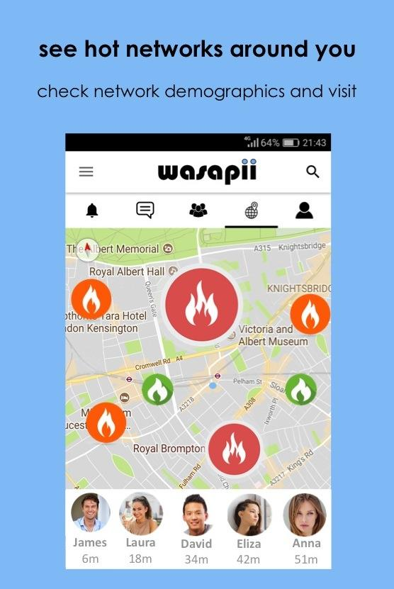 Wasapii - Meet all people nearby in person- screenshot
