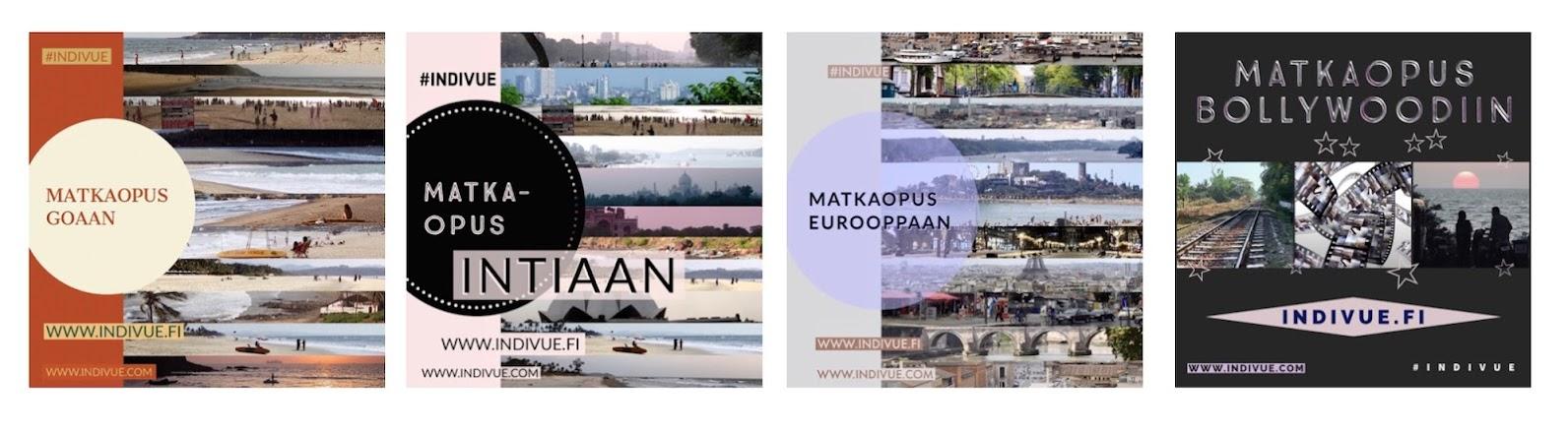 Matkaopus-teoksia Intiaan, Eurooppaan, Goaan ja Bollywoodiin