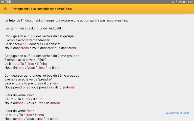 android Exogus CM2 Révision français Screenshot 7