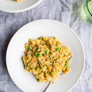 Brown Rice Risotto with Peas and Carrots Recipe