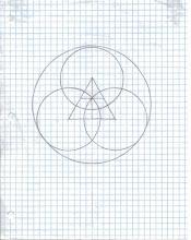 Photo: Triangle with three circles.