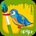 Kids Paint Birds icon