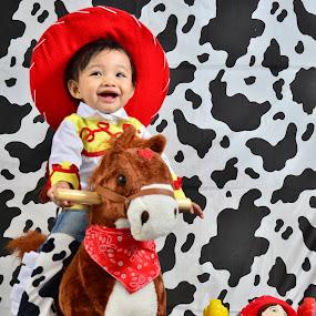 Baby Cowgirl by Monico Montero - Babies & Children Child Portraits