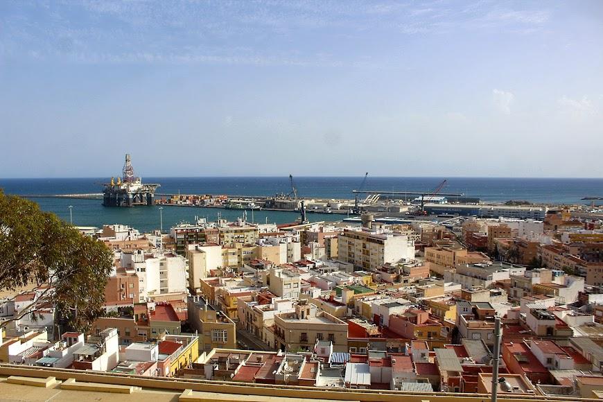 Vista de la ciudad desde la alcazaba durante el estado de alarma.
