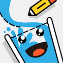 Happy Water - Draw Lines Fill the Glass icon