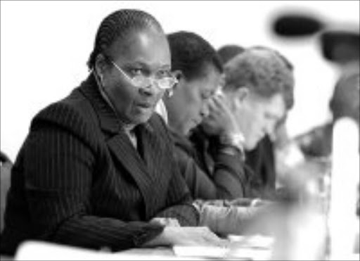 UNDER SPOTLIGHT:Nelly Manzini, director-general in Limpopo, at the standing committee on public accounts sitting in Polokwane yesterday. Pic. Elijar Mushiana. 11/06/2007. © Sowetan.