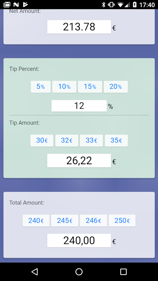 Tip Calc Free- screenshot