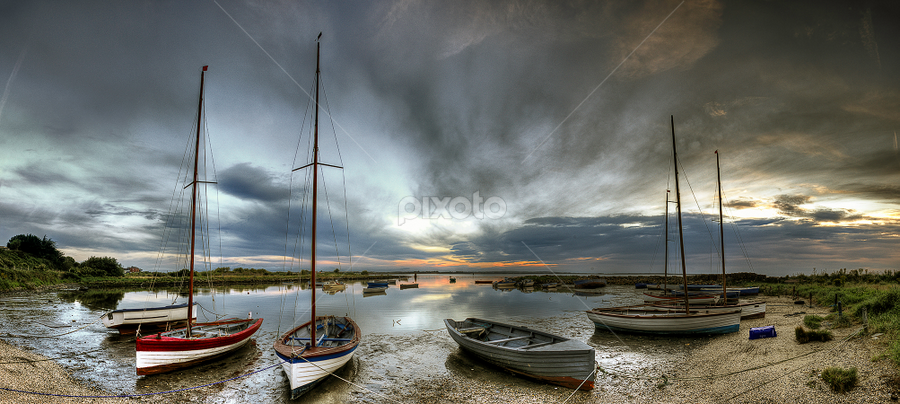 Boats in the Safe. by Barry Walsh - Landscapes Sunsets & Sunrises