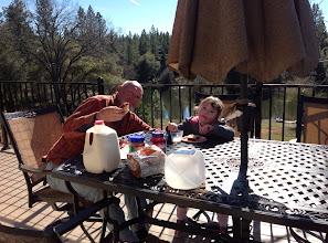 Photo: PBJ with Papa Rick at Wildbird Ranch