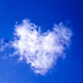 i love clouds by Matt Ball - Landscapes Weather ( cloud, love, skky, blue, white, heart,  )