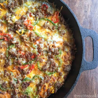Low Carb Breakfast Pizza #SundaySupper.