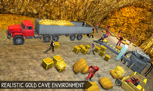 Off-Road Gold Transport Trailer Trucker 3D screenshot 1