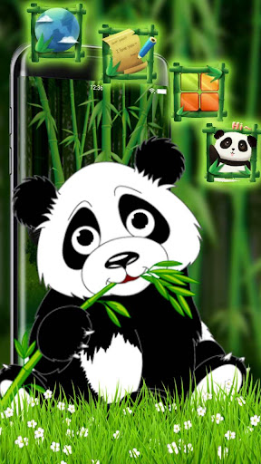 Cartoon Panda 3D Theme 1.1.1 screenshots 2