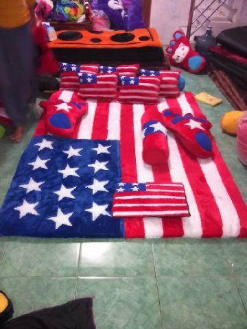 Karpet Karakter Motif Bendera Amerika