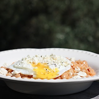 Israeli Couscous Salad with Beans and Egg