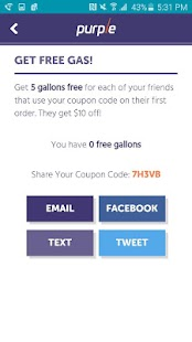 Purple: On-Demand Gas Delivery- screenshot thumbnail