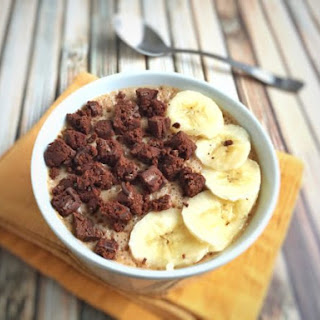 Fiber One Brownie Banana Cereal Smoothie Bowl.