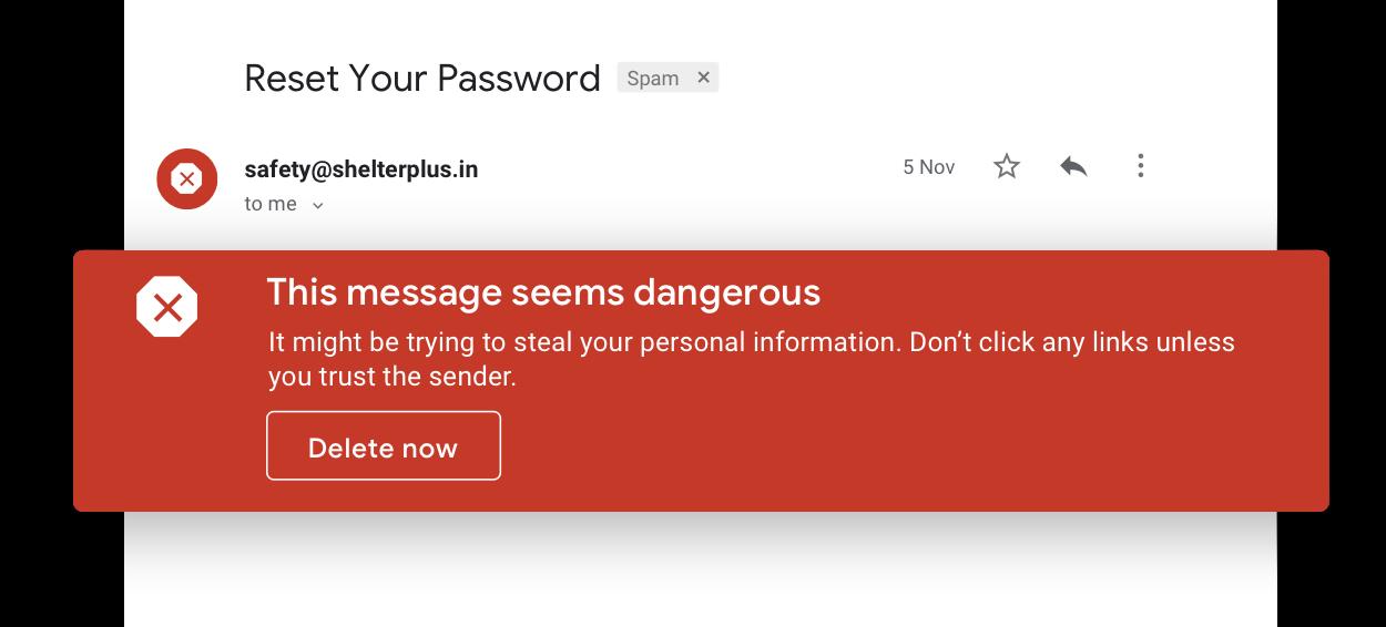 Avoid suspicious emails