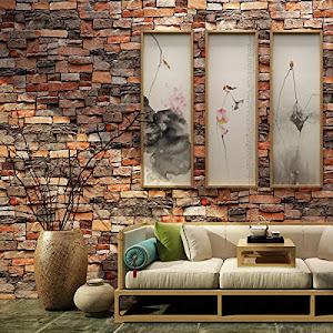 Set 5 x Placa de tapet adeziv caramizi, Stone Bricks 1, 77x70 cm