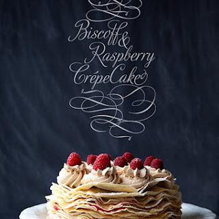 Biscoff & Raspberry Crepe Cake ///