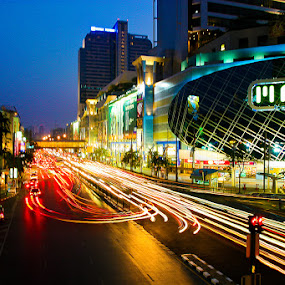 Bangkok by night by Zajac David - Landscapes Travel ( night, travel, city )