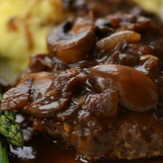 Salisbury Steak In Brandy And Mushroom Sauce