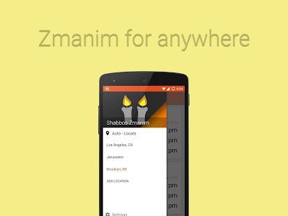 Shabbos Zmanim (Shabbat Times) - náhled