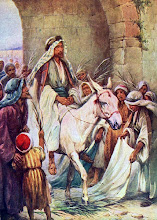 Photo: Jesus ~ Entry into Jerusalem ~ Palm Sunday ~ Jesus entering Jerusalem on a donkey