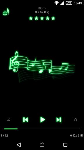 mMusic Skin Neon Green