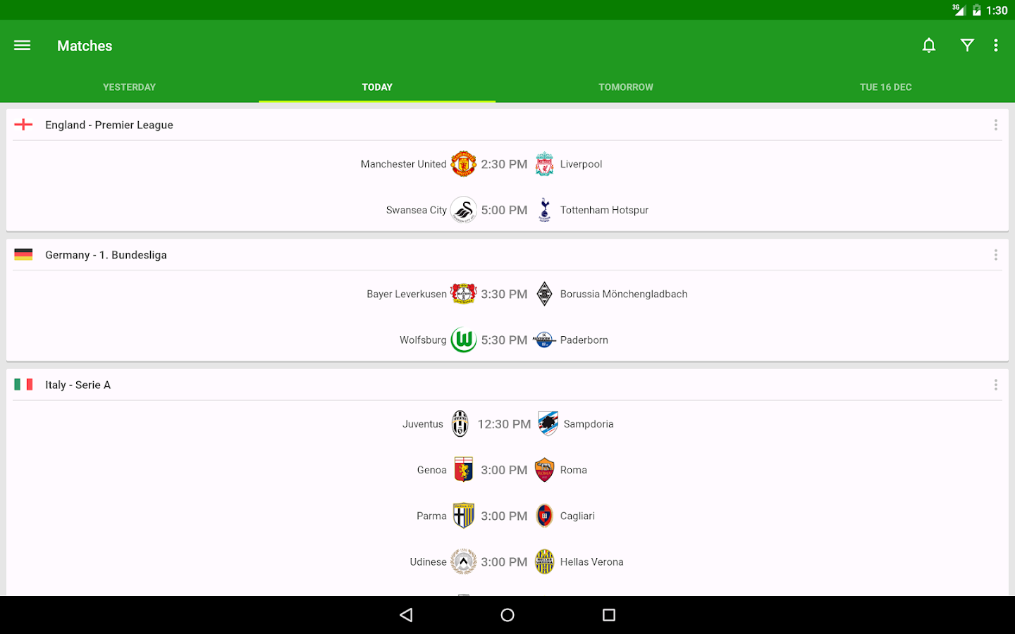 Football Scores - FotMob: captura de pantalla