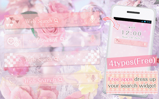 Kawaii Widget『Clear Pink』