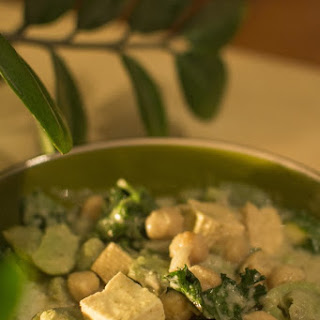 Curry With Fava Beans, Tofu And Chickpeas