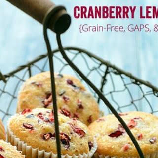 Grain Free Lemon Cranberry Muffins {GAPS, Primal, Paleo Friendly}