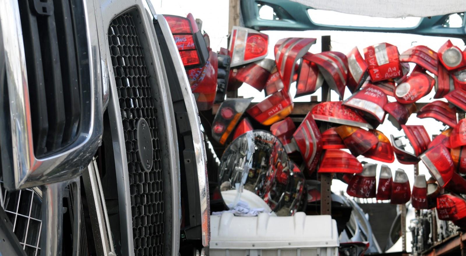 Piezas de coches Depósito de chatarra