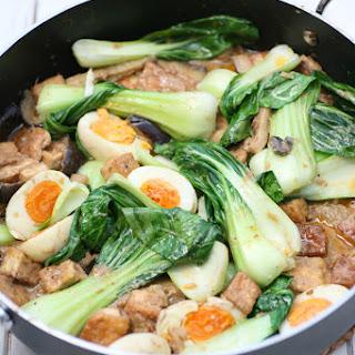 Red Thai Tofu, Aubergine and Egg Curry.