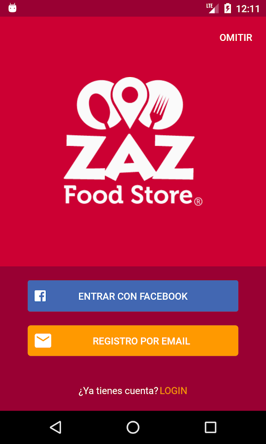 ZAZ Food Store app- screenshot