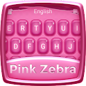 Pink Zebra Keyboard Theme icon