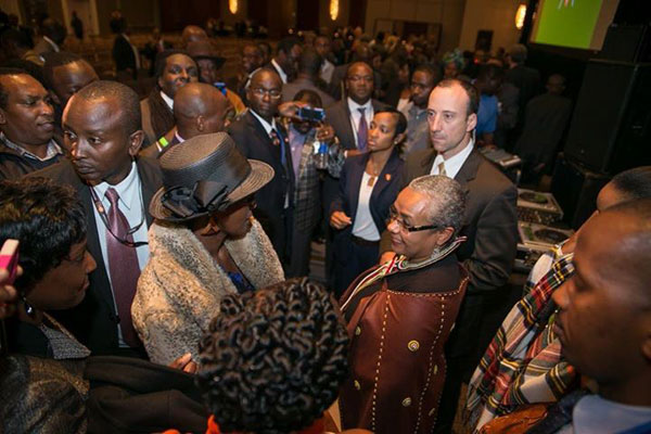 Margaret Kenyatta meets Kenyans in New York