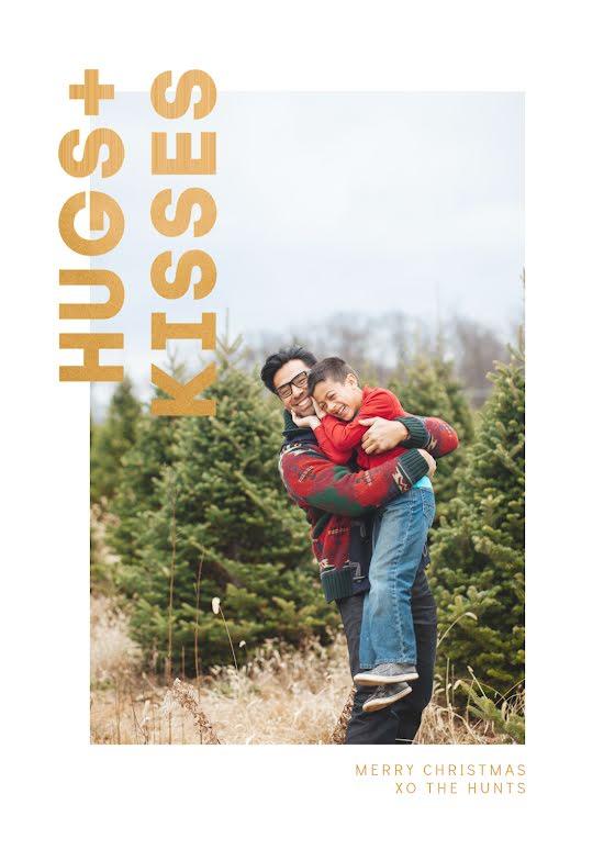 Hugs & Kisses - Christmas Card Template