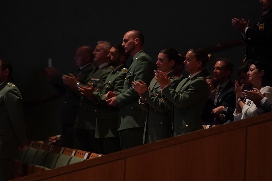 Militares de la Legión Española presentes en el acto.