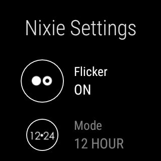 Nixie Watch for Android Wear screenshots 4