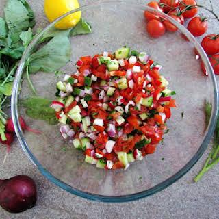 Classic Israeli Salad.