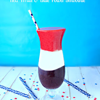 Red White and Blue Power Smoothies {Secret Sources of Protein} Recipe