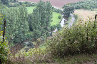 Photo: Kig fra Disibodenberg ned over floden Glan