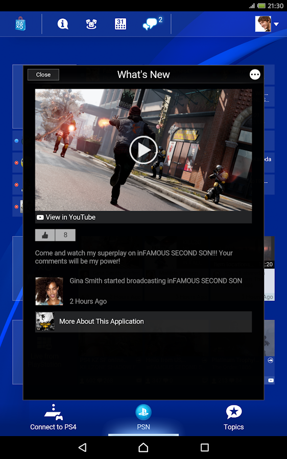 Screenshots of PlayStation®App for iPhone