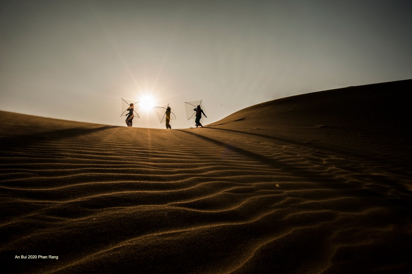 Nam Cuong sand dunes with Cham models