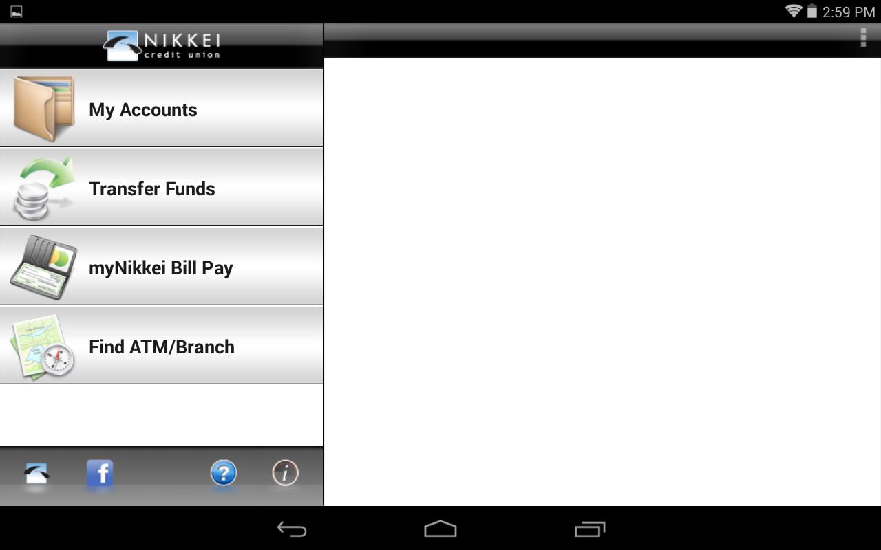 Nikkei Mobile Banking Tablet - screenshot