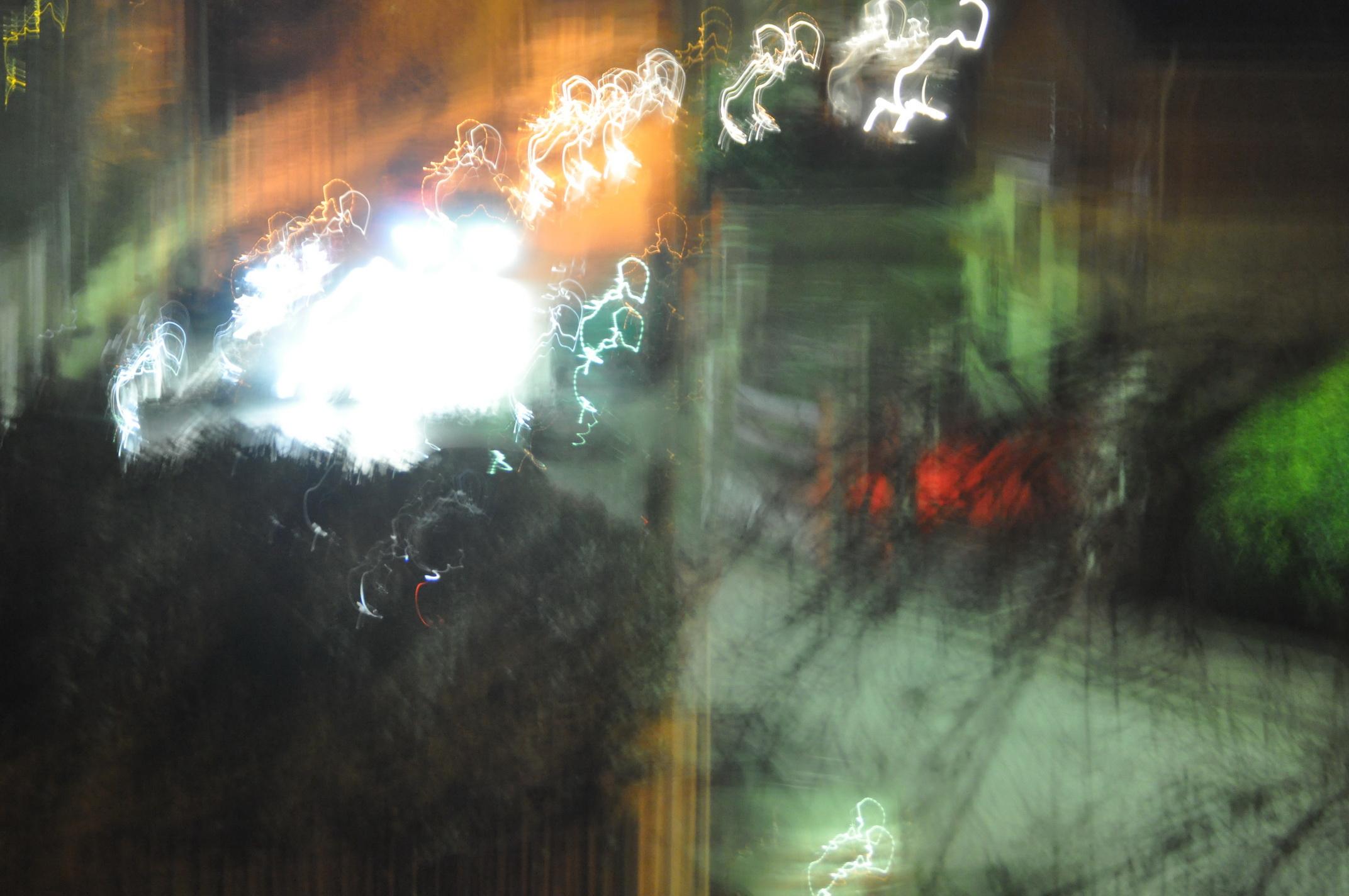 Photo: reflets au crépuscule, de ma fenêtre à Sucy
