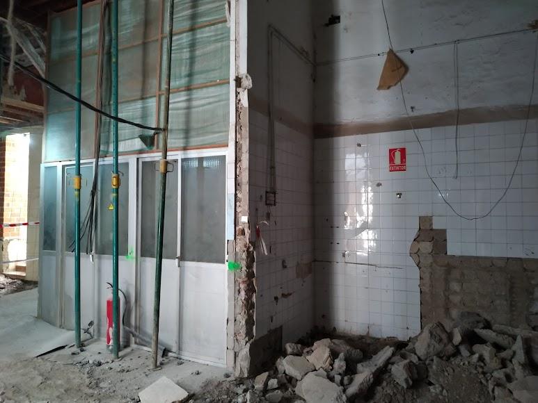Interior del edificio en rehabilitación