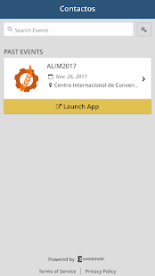 CONTACTOS Events App - náhled
